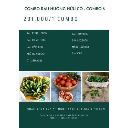 COMBO RAU HƯỚNG HỮU CƠ 5 - COMBO RAU 5