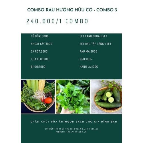 COMBO RAU HƯỚNG HỮU CƠ 3 - COMBO RAU 3