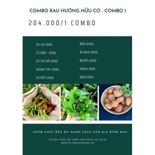 COMBO RAU HƯỚNG HỮU CƠ 1 - COMBO RAU 1