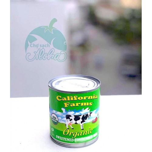 SỮA ĐẶC CÓ ĐƯỜNG HỮU CƠ CALIFORNIA FARMS 397GR 1 HỦ